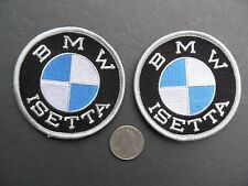 2 Lot Bmw Isetta 3� Patch / Emblem -100% Embroidery / Iron On logo badge - New!
