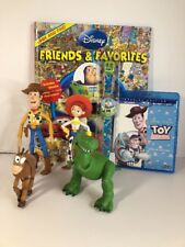 Toy Story Lot DVD Look & Find Book Woody Jessie Bullseye Rex Action Figures