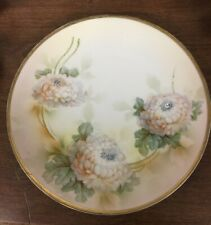 """Prov Sxe ES Germany 8"""" Hand Painted Plate Flowers"""