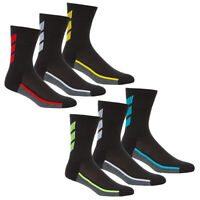 Mens 6 Pairs Ribbed Sport Socks Crew Work Cushioned Running Everyday Size 6-11