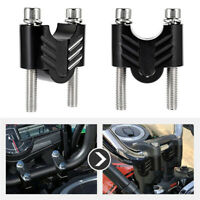 "Pair Motorcycle 7/8"" 22MM CNC Handlebar Riser Mount Clamp Handle Bar Universal"