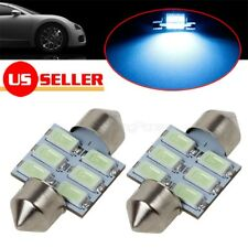 2pcs Ice Blue 6-SMD LED Bulbs for Map Dome Trunk Interior Lights Lamps 3021 6428