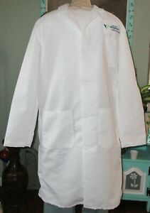 Best Medical L/S Lab Coat W 3 Pockets Harvard Vanguard Medical White Sz M to XL