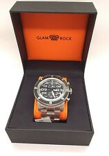 Glam Rock Men's Swiss Movement Dress Analog Black Dial Glam Rock Watch GR33100