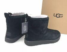 Ugg Australia Classic Mini водонепроницаемые замшевые ботинки, черные, 1019643 женские
