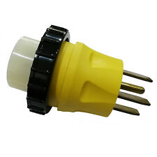 Parkworld 691739 RV 50A 14-50P Male to Marine 50A SS2-50R female Power Adapter