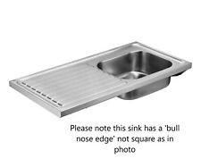Armitage Shanks Doon Stainless Sink No Tap Hole 120cm Right Hand Drainer S5989MY