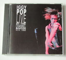 IGGY POP .  LIVE AT THE CHANNEL BOSTON 1988 . CD