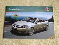 Vauxhall Astra Twintop Range 2010 Models No1 inc Air, Sport, Design 1.8, 1.9CDTi