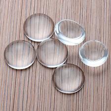 10pcs 8-25MM Transparent Clear Round Shape Flatback Domed Glass Cabochon New