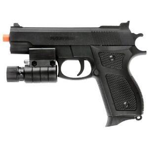 AIRSOFT TACTICAL SPRING PISTOL HAND GUN w/ LASER SIGHT LED FLASHLIGHT 6mm BBs BB