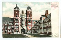 Dormitory Entrance UPENN University of Pennsylvania PHILADELPHIA PA Postcard