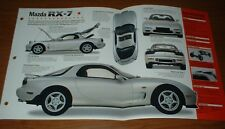 1993 mazda rx-7 spec sheet brochure photo info poster rx7 91-97 96 95 94 93  (fits: mazda rx-7)