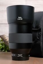 Zeiss Batis 135mm f2.8 Apo Sonnar T* Lens Sony E Mount with Hood and Bag