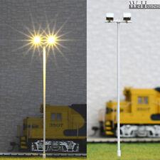 lot 4 Modèle Train Lampadaire HO projecteur à LED éclairage place lumière #012W