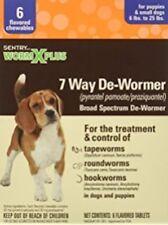 SENTRY HC WORM X PLUS DEWORMER SMALL DOG WORMER 12 WEEK+ 6 TAB. FREE SHIP IN USA
