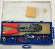 Vinyl Insulated Terminal Assortment & Wire Cutter Stripper Crimper Tool Kit ET16