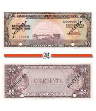 Dominicana Rep. 50 Pesos 1964-1974 Specimen Unc Pn 103s