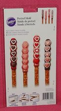 Heart,Valentines Chocolate Pretzel Mold, Wilton,Clear Plastic,2115-3025