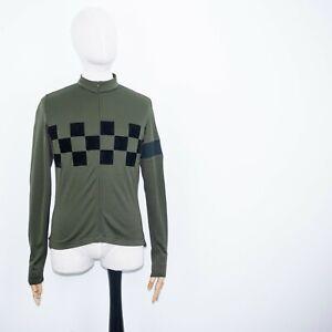 RAPHA CHECK CLASSIC LONGSLEEVE JERSEY Green Merinowool Mens jacket size L