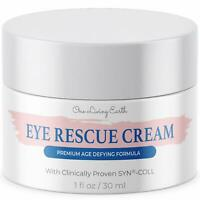 Eye Rescue Cream Clinically Proven SYN-COLL Collagen-Stimulating Peptides (1 oz)