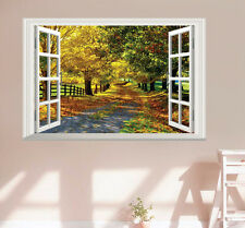 Usa Boulevard Maple Trees 3D Window View Wall Decor Sticker Decal Home Art Mural