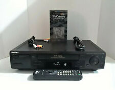 New ListingSony Slv-798Hf Vcr Vhs Player Recorder Hi-Fi with Remote Tested
