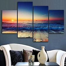 Framed stretched canvas prints seascape print Sunset beach modern art wall ocean