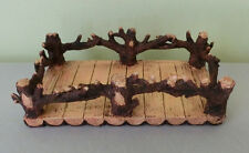 Vintage Look Rectangle Dresser Vanity Bar Decorative Tray w Tree Branches Rails