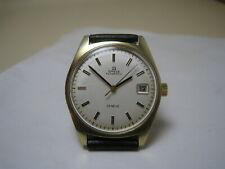 OMEGA GENEVE AUTOMATIC DATE 18K  YELLOW FILLED GOLD 1970 WATCH