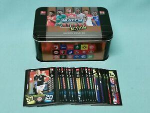 Topps Match Attax Action 2019/2020 Mega Tin Box leer + 40 Basiskarten 19/20