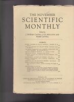 Scientific Monthly November 1939 Pan American Highway Engineering Aristotle