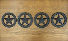 bced26834e089 4 ANTIQUE-STYLE RUSTIC WESTERN CAST IRON METAL CIRCLE BARN STAR WALL DECOR  6.25