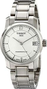 Tissot Swiss Made T-Classic Titanium Automatic Silver Dial Ladies Watch