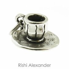 925 Sterling Silver Cup and Saucer Charm American Made