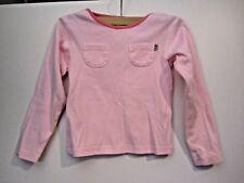 Jacadi girl's long sleeve pink cotton top size 8A 128cm
