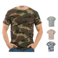 Algodão Camuflagem Uniforme de combate do exército Ded Urbana Woodland T-shirts Unissex por Rapid Dominance