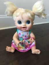 Baby Alive 2012 Real Surprises Doll Blonde Hair Blue Eye Talks English & Spanish