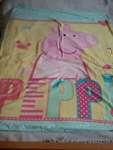 Girls Peppa Pig Duvet Cover Cot Bed Toddler Bed Seaside Beach