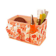 Makeup Cosmetic Storage Box Bag Bright Organiser Foldable Stationary Container N