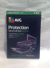AVG Protection 2016 Unlimited Devices / 1 Yr - Mac/Android/PC NEW FACTORY SEALED