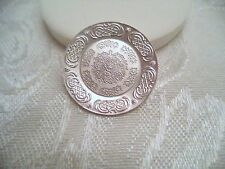 Sterling Silver Dollhouse Dinnerware Plate w/ Lovely Design
