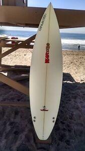 "Warner Surfboards WB009-US004: 6'4"" Short Board Hand Shaped In Australia"