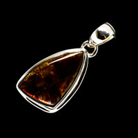 "Ammolite 925 Sterling Silver Pendant 1 1/2"" Ana Co Jewelry P711264F"