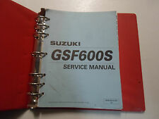 2000 2002 Suzuki GSF600S SY Service Repair Manual STAINED FACTORY OEM DEALERSHIP