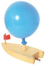 Bateau ballon en bois, wooden balloon boat, Holz Luftballon-Boot