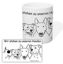 Tasse Kaffeetasse Bullterrier in Not Listenhund