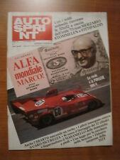 AUTOSPRINT 7/1975 - Andrea De Adamich / Clay Regazzoni / Alfa Romeo 33