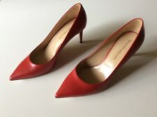 TAMARA MELLON CHIEF DESIGNER JIMMY CHOO red leather pumps REBEL shoes Italy size