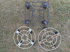 3 x metal Pot Plant Trolley with plastic castors
